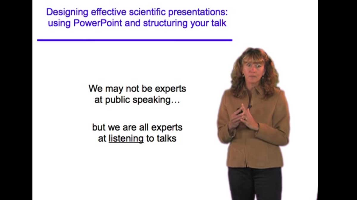 Designing Effective Scientific Presentations • iBiology